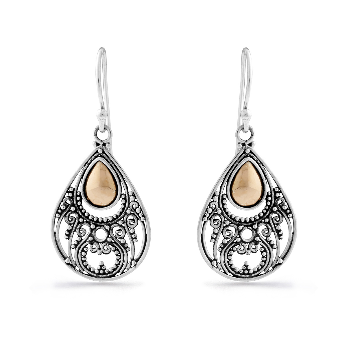 Alamanda Silver & Gold Earrings