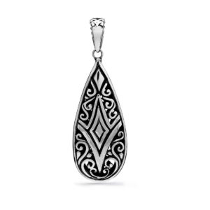 Aying Silver Pendant - Handcrafted Sterling Silver Jewellery from Bali by Nusa