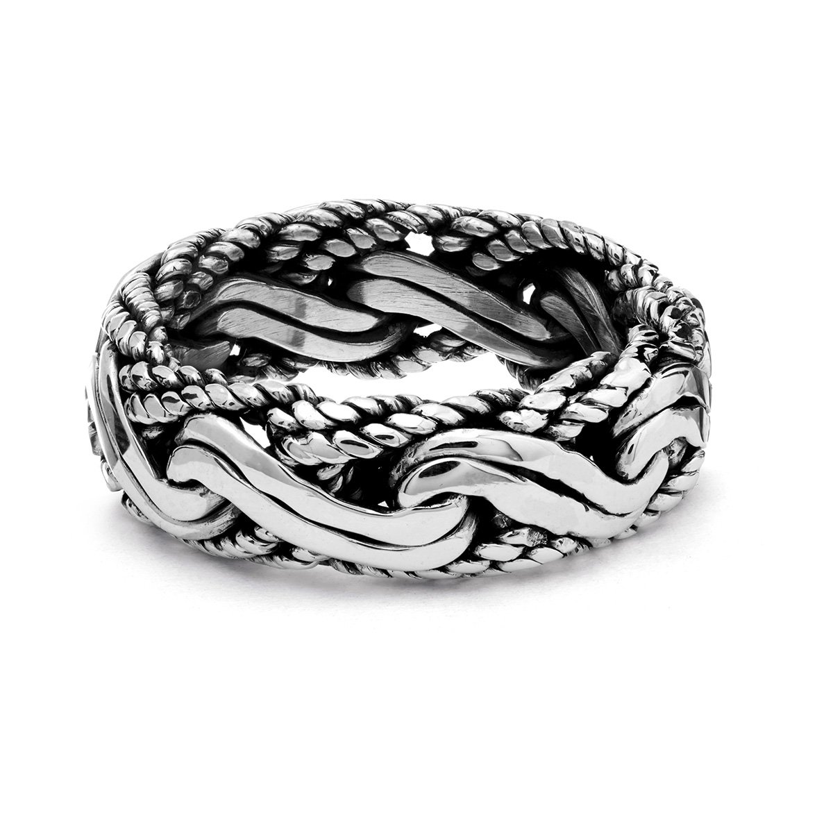 Blue Point Silver Ring