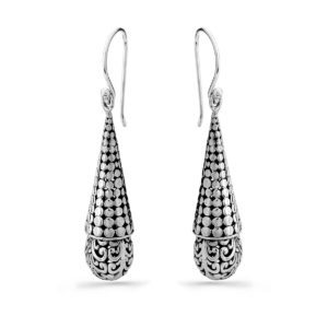 Gajah Silver Earrings - Handcrafted Sterling Silver Jewellery from Bali by Nusa