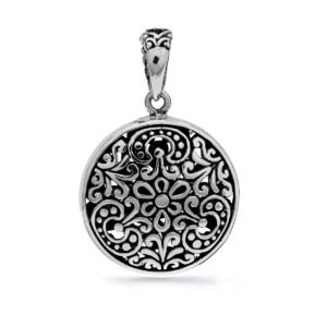Mendaum Silver Pendant - Handcrafted Sterling Silver Jewellery from Bali by Nusa
