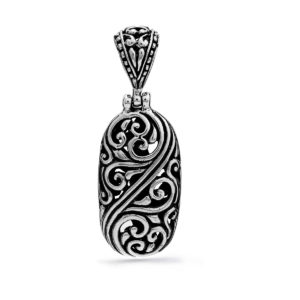 Saba Silver Pendant - Handcrafted Sterling Silver Jewellery from Bali by Nusa