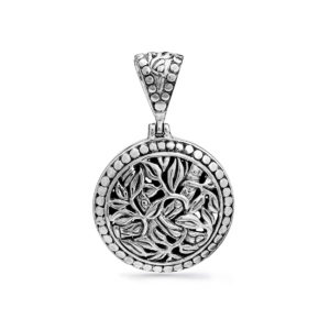Tabanan Silver Medallion - Handcrafted Sterling Silver Jewellery from Bali by Nusa