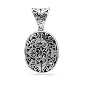 Tamblingan Silver Pendant - Handcrafted Sterling Silver Jewellery from Bali by Nusa
