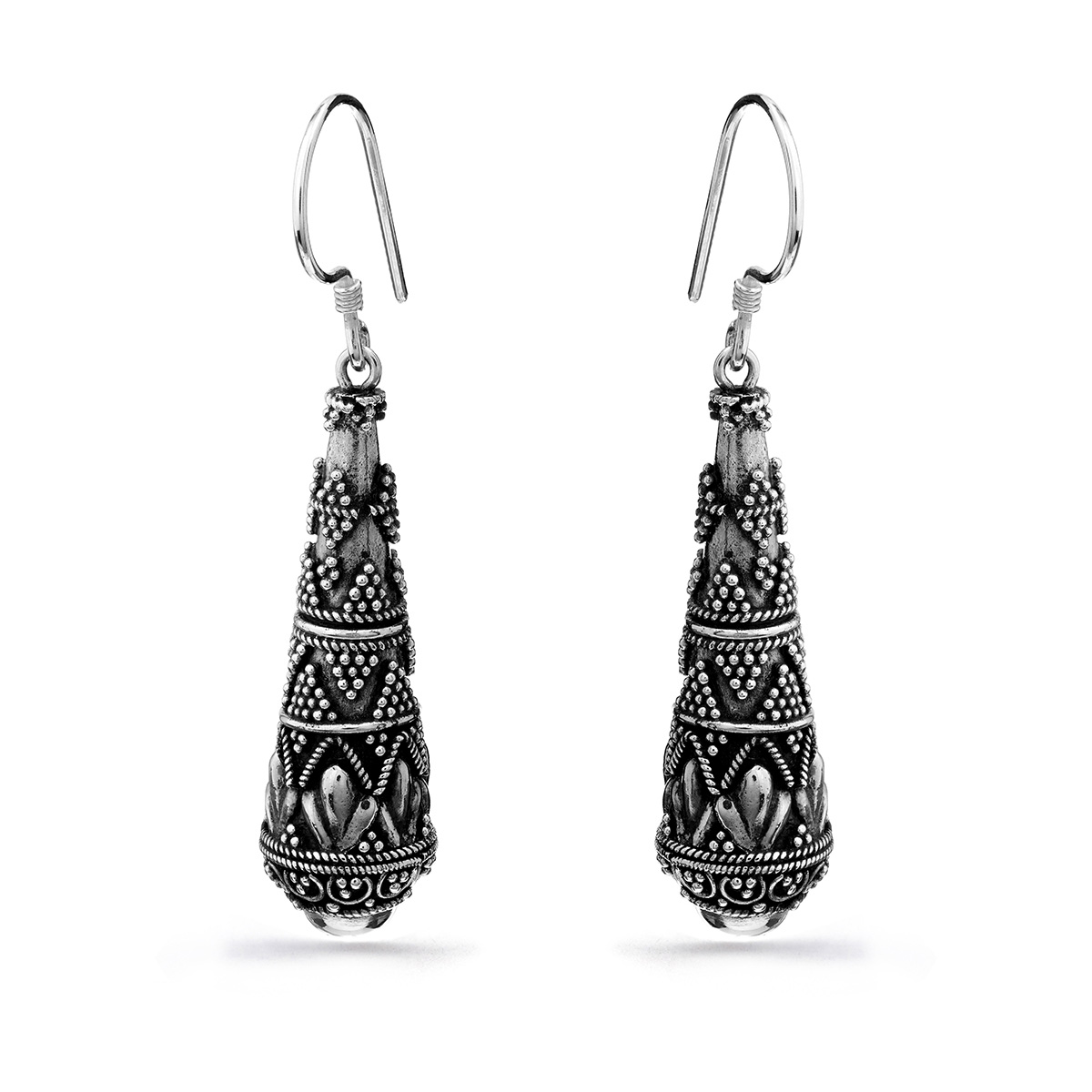 Ubud Silver Earrings - Handcrafted Sterling Silver Jewellery from Bali by Nusa
